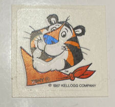 """~~ Vintage Tony The Tiger Frosted Flakes Glow In The Dark Sticker 1987 1"""" x 1"""""""