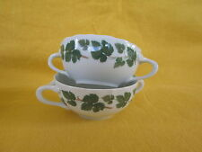 "Hutschenreuther Weinlaub SET OF TWO CREAM SOUP BOWLS  ""have more items to set"""