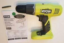 "Ryobi 18V 18 VOLT One+ 3/8"" Inch Lithium Nicad Cordless Drill/Driver P209"