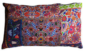 Folklore Cushion Cover Matthew Williamson Printed Cotton Fabric Rectangular