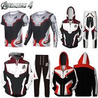 Marvel Avengers 4 Endgame Mens Hoodie Sweater T-Shirt Costume Sports Jacket Coat