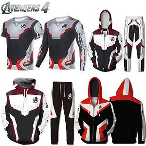Mens 3D Printed Marvel Avengers 4 Endgame Hoodies Sweatshirt T-Shirt Jacket Coat