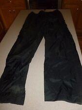 Field & Stream Hydro Proof Ultra Black Nylon Waterproof Rain Pants Mens sz S