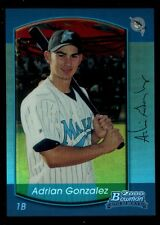ADRIAN GONZALEZ MINT 2000 BOWMAN CHROME ROOKIE BLUE REFRACTOR 2013 REPRINT RC B7