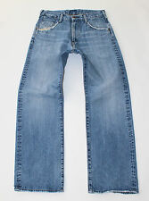 "Blue Denim G-STAR 5530 Straight Leg Zip Fly Faded Distressed Jeans Size W30"" L30"