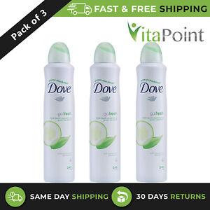 Dove Go Fresh Touch Cucumber & Green Tea, 24Hrs Deodorant Spray 250ml/ Pack Of 3