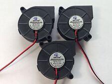3 pcs 12V 50mm Blower Fan 5015 50mm x 15mm Turbo Cooling 3D Printer Rep Rap 2pin