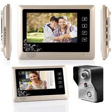 "7 "" Wired Video Home Door Phone Doorbell Intercom System Kit 1-Camera 1-Monitor"