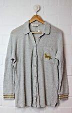 PETER ALEXANDER Grey Long Sleeved PJ Button Down Top Size M