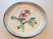 BEATRICE WOOD  Rose Dinner Plate c.1950  Glazed Earthenware  RARE  SIGNED  BEATO