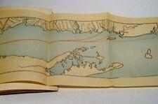 Vintage Tourist Guide Hudson River-MA-Rhode Island to New York-3 Ferry Maps-RARE
