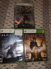 Xbox 360 3 Game Lot Bundle. Darksiders Halo 4 Fable 3