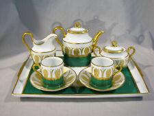 RICHARD GINORI DEMITASSE TEA SET WITH TRAY - UNUSED