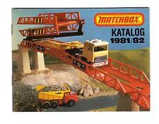"""KATALOG/CATALOGUE """" MATCHBOX 1981/82"""", DEUTSCHE AUSGABE, FAST NEUWERTIG !"""