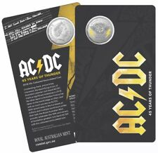AUSTRALIA 2018 50 CENTS AC/DC 45 YEARS OF THUNDER COLOURED UNC COIN-Bargain Deal
