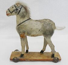 ANTIQUE MADE IN GERMANY SMALL HORSE PULL TOY