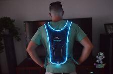 Neon BLUE Rave Ready EDC EDM Hydrapack Back Pack Waterbag Camelbak Festival Gear