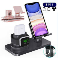 3 in1 Charging Dock Station Holder Stand For Apple Watch AirPod iPhone 11 Pro Xs