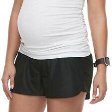 a Glow Maternity Athletic Full Belly Running Active Shorts Women Medium M