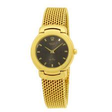 ROLEX Lady 18K Yellow Gold 26mm Cellini # 6621 18K Bracelet Box MINTY Warranty