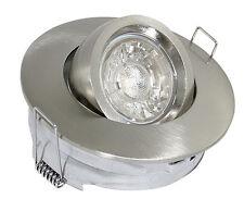 Einbauspot 230V 12V Downlight Decken Leuchte schwenkbar für LED + Halogen TONI