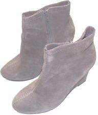 Chinese Laundry Women's At Once Ankle Wedge Booties S 6 Suede Taupe Heel Boots