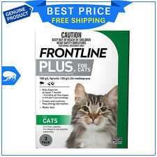 Frontline Plus For Cats Flea treatment 3 Pipettes by Merial
