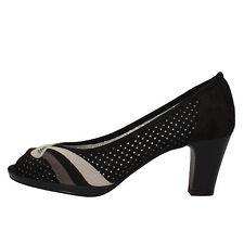scarpe donna MARY COLLECTION 38 EU decolte nero camoscio AF744-E