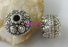 10 Pcs Tibetan silver oblate spacer beads A1953