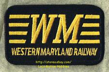 """LMH Patch  WESTERN MARYLAND Railway  WM Railroad  FAST FREIGHT LINE black 3-1/2"""""""