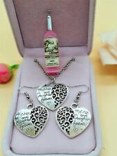 1 set of Retro Tibetan Silver Mother and daughter Charm necklace Earrings NEW #