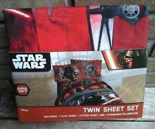 Star Wars Red Twin Sheet Set 3pc Disney Jay Franco NEW