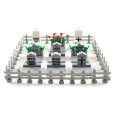 Graveyard / Cemetery with Fence - Custom Lego Compatible Building Block Parts