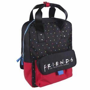 Friends Logo Polka Dot Black and Red Backpack