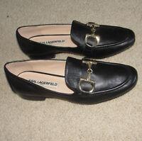 Karl Largerfeld Paris Nice Women Girl Leather Shoe Flats Great Conditon 7 Or 37