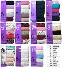 Ladies Ex BHS 5 Pack Cotton High Leg Brief Multipack Underwear
