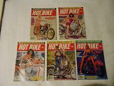 LOT OF 5 1992 HOT BIKE MAGAZINES,OLD WAR BIRD,HILL CLIMB,SINGLE FIRE,PORTS,STEEL