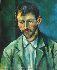 """Peasant"", Paul Cezanne Reproduction in Oil,  22""x18"""