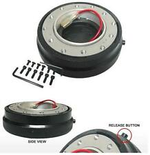 FOR ACURA RSX INTEGRA DC TSX SLIM STERRING WHEEL SLIM BLACK QUICK RELEASE HUB