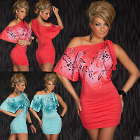 Sexy Women Blouse Clubbing Tunic Party Top Ladies Mini Dress Size 8 10 12 Blouse