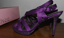TOUCH OF NINA WOMENS NEW SPARKLE PURPLE DRESSY STILETO SANDALS SHOES SIZE 8.5M