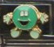 Happy blue green enamel candy 9mm stainless steel italian charm bracelet link