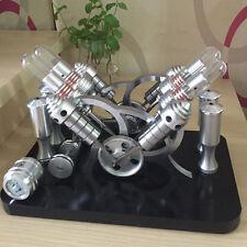 Powerful Hot Air Stirling Engine Model Toy 4-Cylinder Engine Motor V-4 Engine