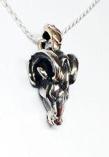 Ram Head Silver Pendant
