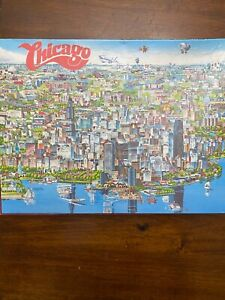 Vintage City Of Chicago 504 Piece Character Jigsaw Puzzle - 1988