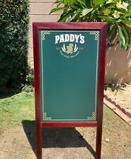 Paddy's Old Irish Whisky Beer Bar A-Frame Chalkboard  Man Cave Mirror