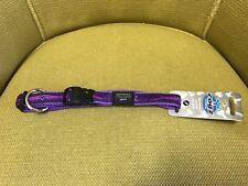 "Rogz Dog Collar Beach Bum Purple Chrome Large 13-22"" Spaniel Doberman Boxer"