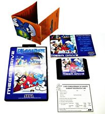 THE SMURFS DIE SCHLUMPF SEGA MEGA DRIVE PAL GAME VERY RARE SUIT COLLECTOR NOMAD