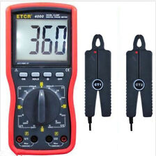 ETCR4000 Double clamp digital phase meter Clamp meter new