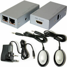 HDMI & IR Control Over CAT5e/CAT6 Extender/Sender Balun Kit -Full HD @ 30m- RJ45